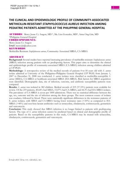 View Full Article in PDF format - Pediatric Infectious ...