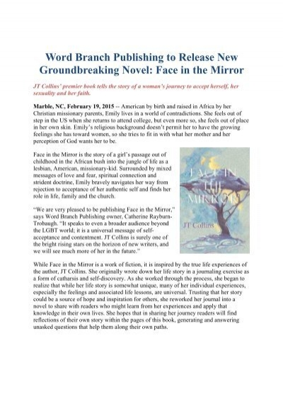 Word Branch Publishing To Release New Groundbreaking Novel Face In