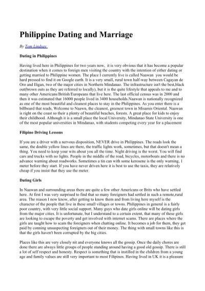 Philippine datování uk