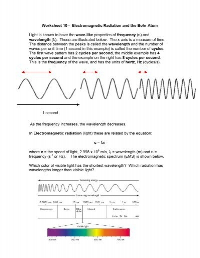 Worksheets Electromagnetic Spectrum Worksheet waves and electromagnetic spectrum worksheet answers templates