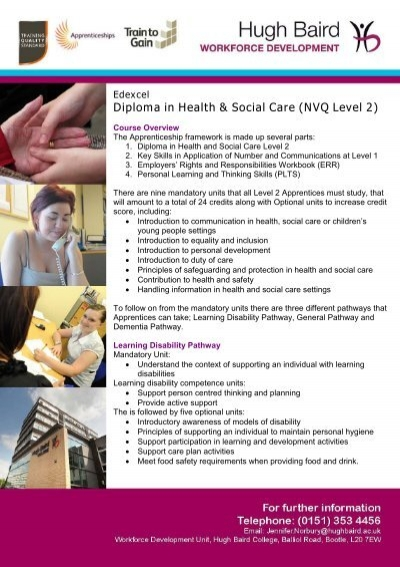 nvq 202 health and social care Level 3 diploma in health and social care (children and young people) unit 4222-202 introduction to personal development in health, social care or children's.