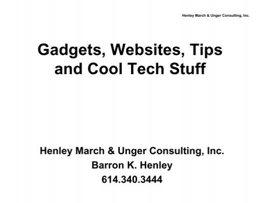 gadgets websites tips and cool tech stuff