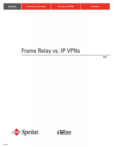 Frame Relay vs. IP Vpns
