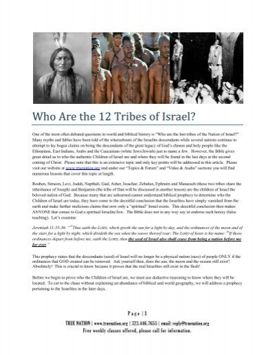 1velve tribes who are the 12 tribes of israel today true nation gumiabroncs Choice Image