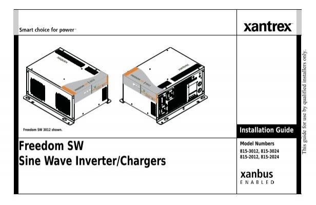 Xantrex Service Manual on