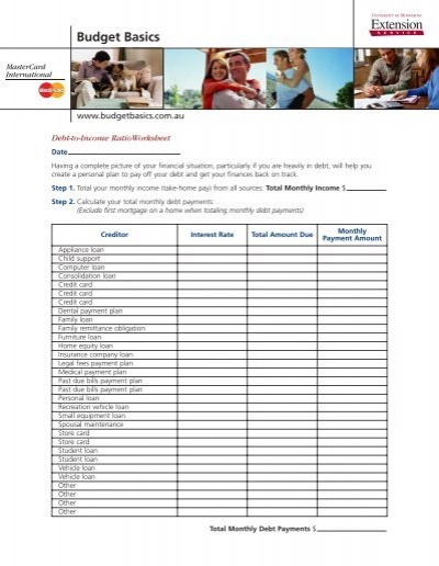 Worksheets Debt To Income Worksheet debt to income ratio worksheet pichaglobal mastercard