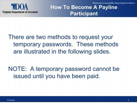 payline doa virginia gov login Participant