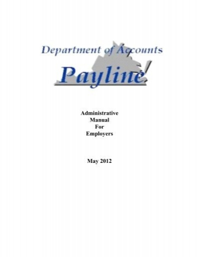 payline doa virginia gov login Accessing Payline - Virginia Department of Accounts