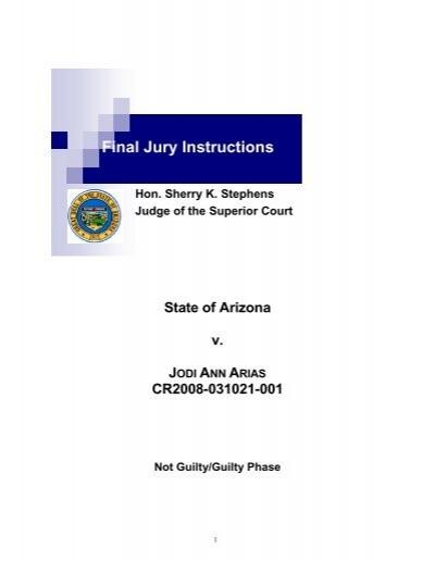 Final Arias Jury Instructions