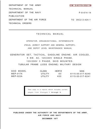 mep 017a manual igor chudov rh yumpu com Building Operations and Maintenance Manual Equipment Maintenance Manual