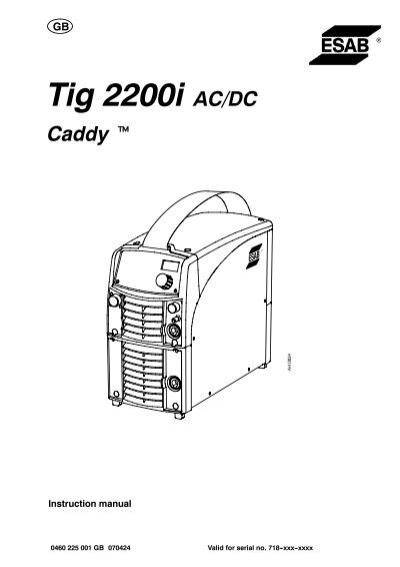 Service manual Esab caddy 150