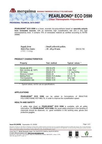 PEARLBOND® ECO D590 - Merquinsa