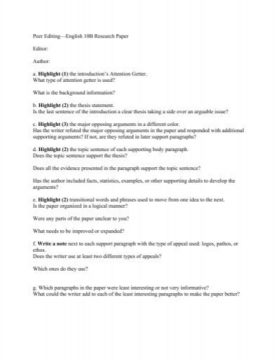 peer editing form 5 paragraph essay The 3 peer editing checklists are very detailed (for a 5, 7, & 9 paragraph essay) created for the progressing writer excellent for mixed or leveled classes to give.