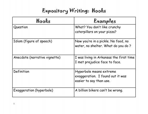 what does expository mean