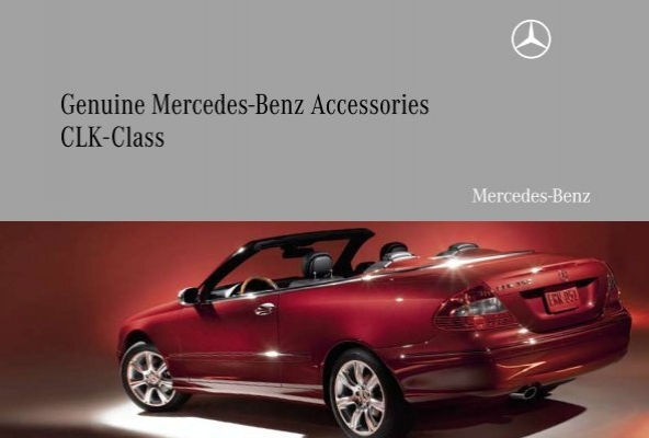 genuine mercedes benz accessories clk class partes