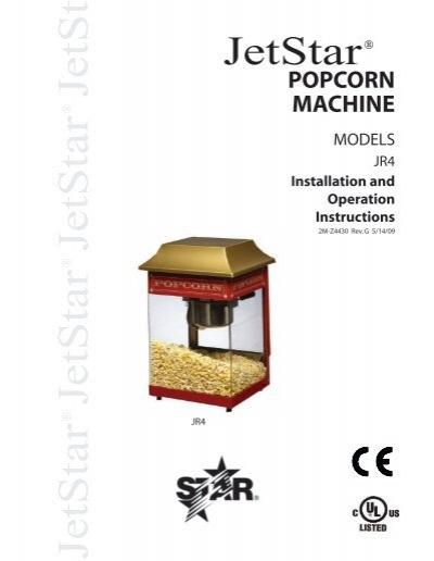 JetStar Popcorn Machine on