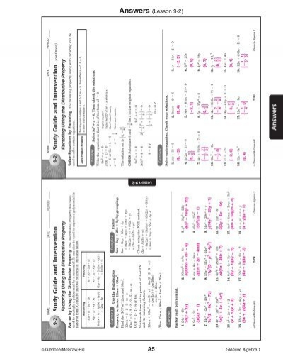 1 5 study guide and intervention the distributive property