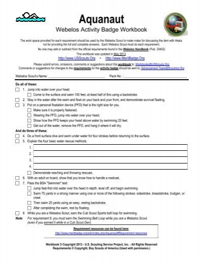 Boy Scout Cooking Merit Badge Worksheet Answers - The Best and ...