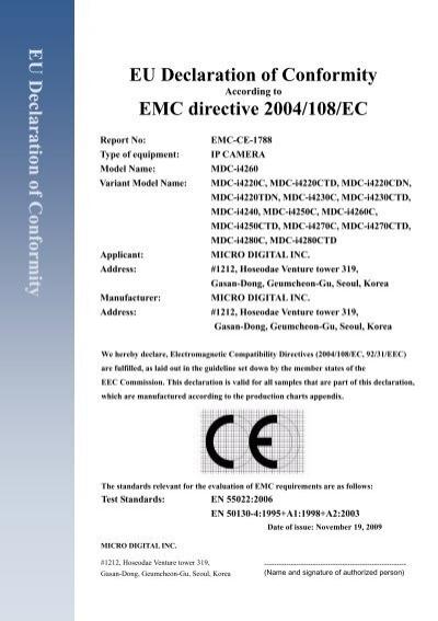 Eu declaration of conformity eu declaration of microdigital altavistaventures Choice Image