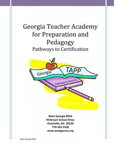 Georgia Teacher Academy for Preparation and Pedagogy - Ciclt.net