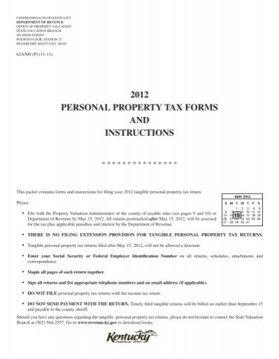 Kentucky Personal Property Tax On Vehicles