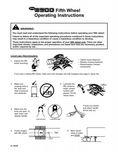 Fifth Wheel Operating Instructions Idealease