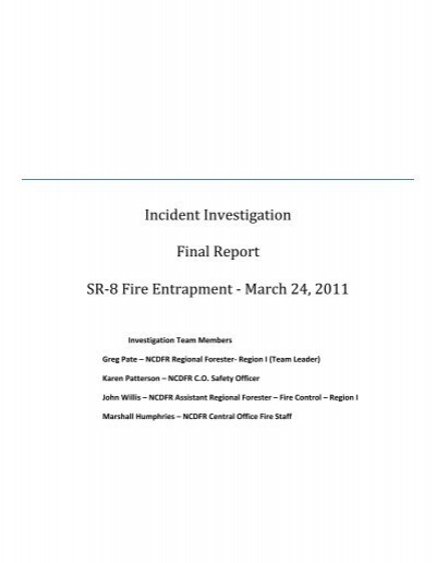 Investigation report on GGS fire incident OISD – Fire Incident Report
