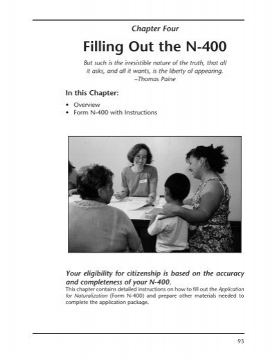Chapter Four Filling Out The N 400