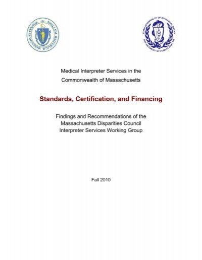 Medical Interpreter Services in the Commonwealth of ... - IMIA