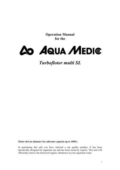 Silencer for Aqua Medic Turboflotor 1000 Multi Aquarium Skimmer
