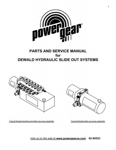 parts and service manual for dewald