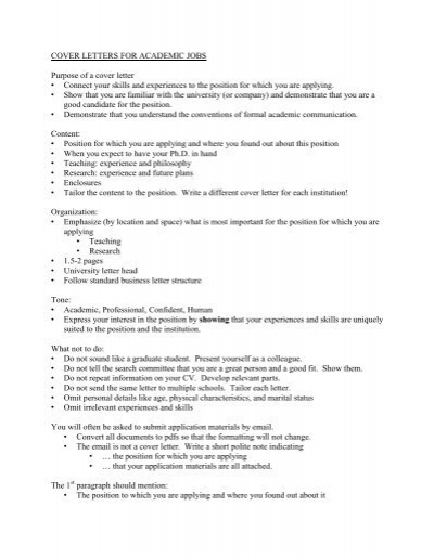 Same Cover Letter For Multiple Positions from www.yumpu.com