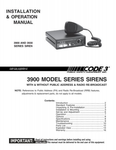 37555085 sirens and controls code 3 public safety equipment code 3 vcon siren wiring diagram at gsmportal.co