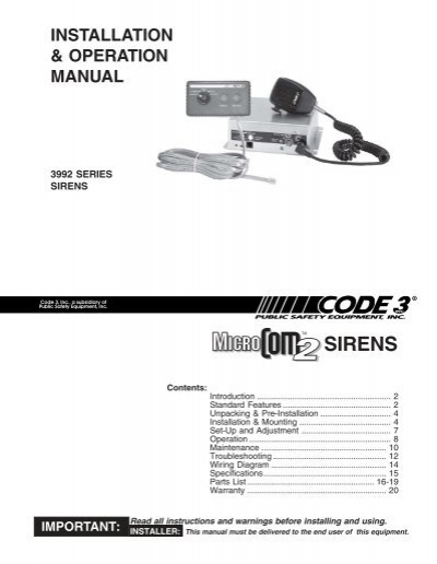 37555243 sirens and controls code 3 public safety equipment code 3 vcon siren wiring diagram at gsmportal.co