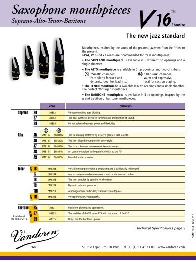 Saxophone mouthpieces - Ozwinds