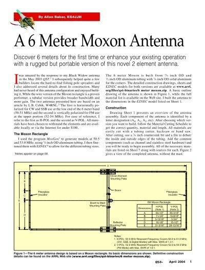 6m moxon antenna - KG4JJH