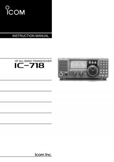 icom ic 718 instruction manual hampedia net rh yumpu com VHF Radio Icom 22 00H IC- 2200H
