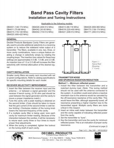 Db Pass 23 Instruction Sheetr