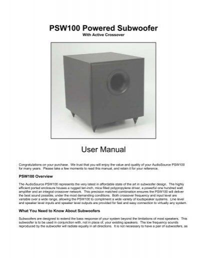 psw100 manual pdf audiosource rh yumpu com
