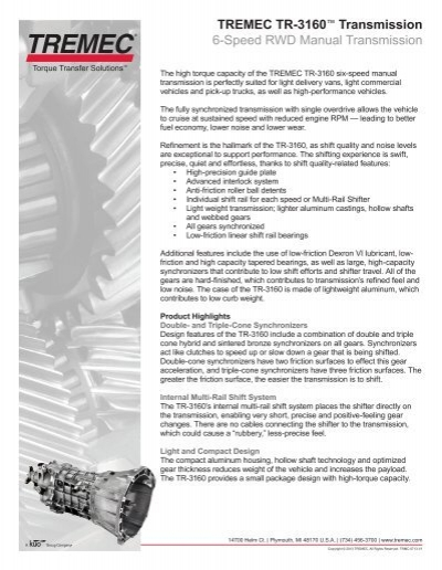 Manual transmission transfer case edoqs user guide manual that tremec tr 3160 6 speed transmission rh yumpu com publicscrutiny Gallery