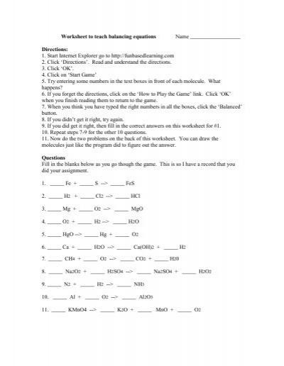 simple balancing equations worksheet pdf balancing math equationsbalancing nuclear equations. Black Bedroom Furniture Sets. Home Design Ideas