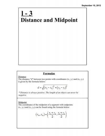 100 distance formula worksheet answers distance formula the distance formula ck 12. Black Bedroom Furniture Sets. Home Design Ideas