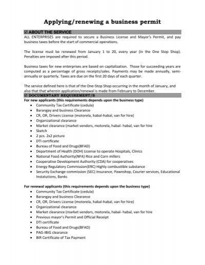 Applying/renewing a business permit - Jagna