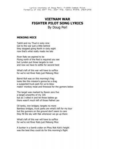 Song lyrics about vietnam war
