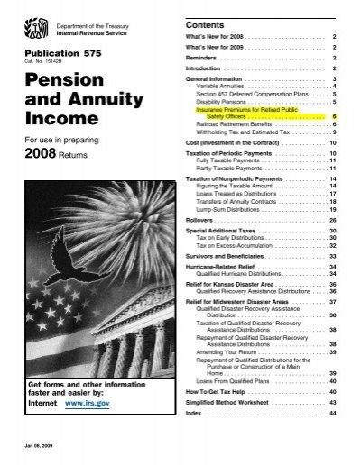 Pension and Annuity Income