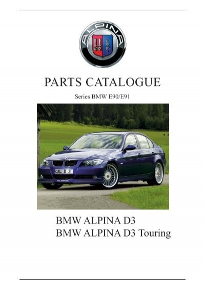PARTS CATALOGUE The Alpina Register - Alpina bmw parts