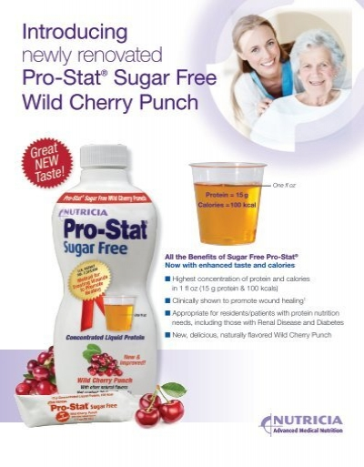 Introducing Newly Renovated Pro Stat Sugar Free Wild Cherry Punch