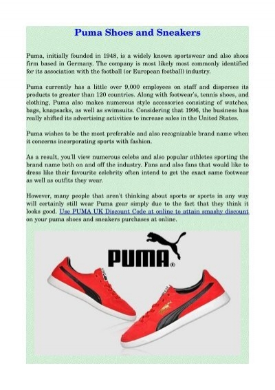Puma Shoes and Sneakers