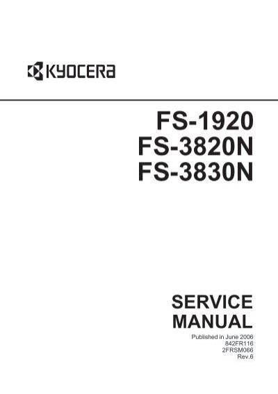 fs 1920 3820n 3830n service manual kyocera rh yumpu com Customer Service Books Auto Repair Manual