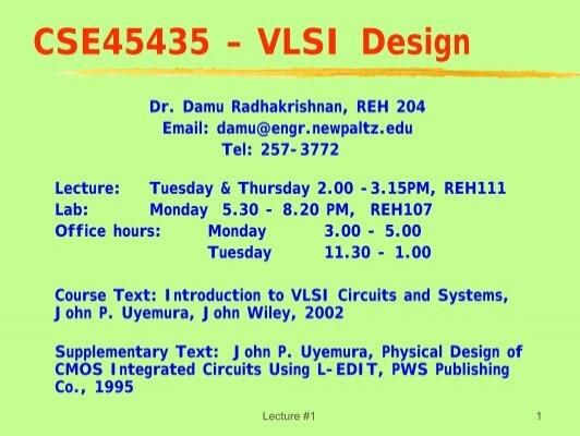Cse45435 A Vlsi Design Engineering